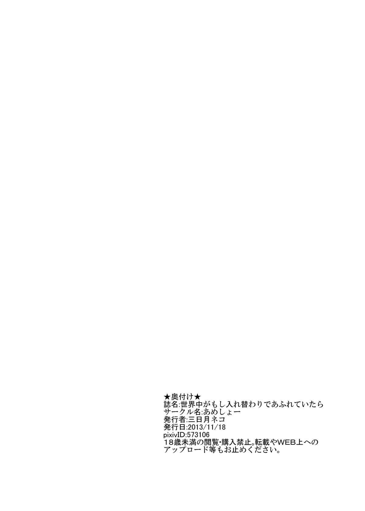 Sekaijuu ga Moshi Irekawari de Afurete Itara 33