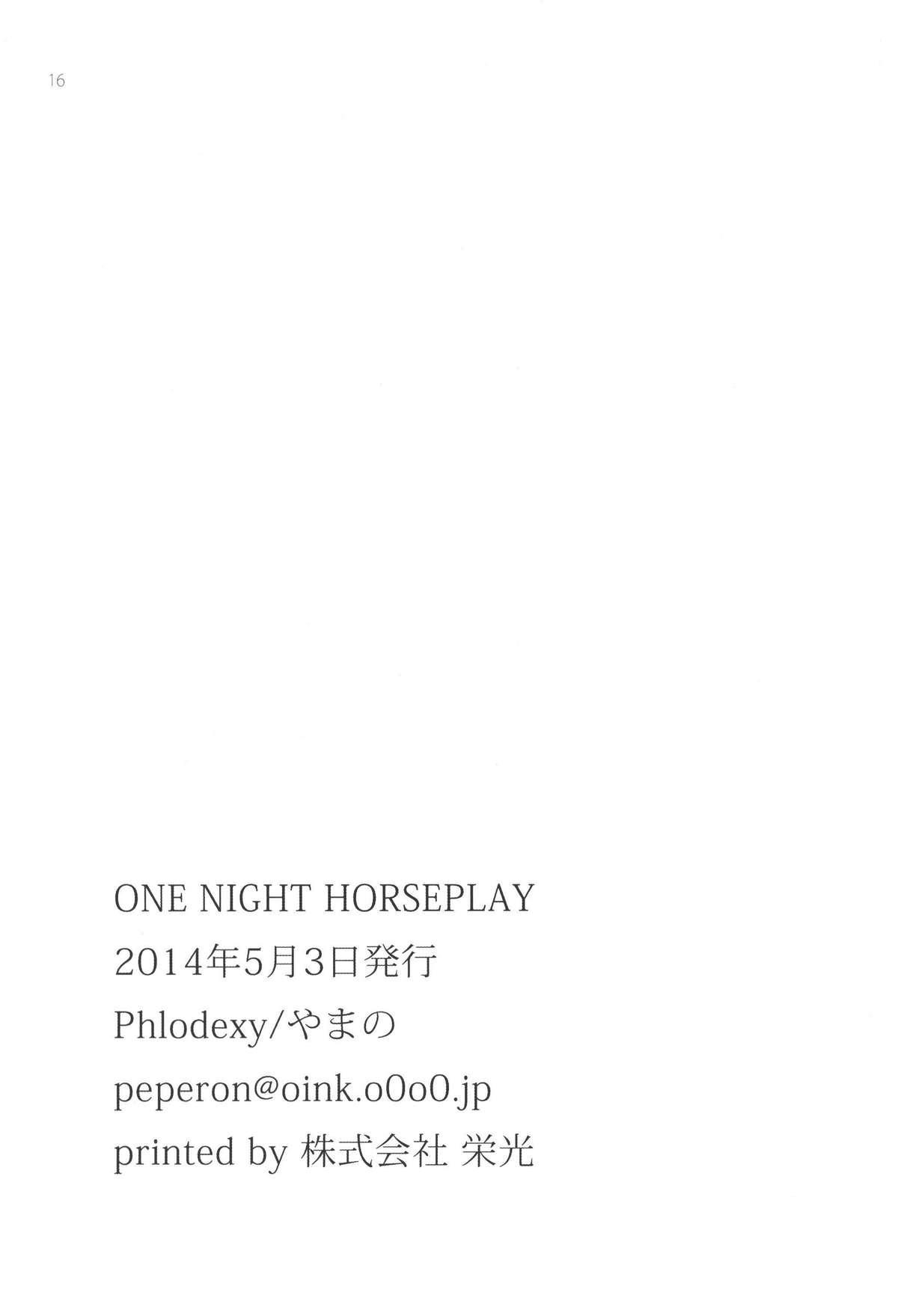 ONE NIGHT HORSEPLAY 16