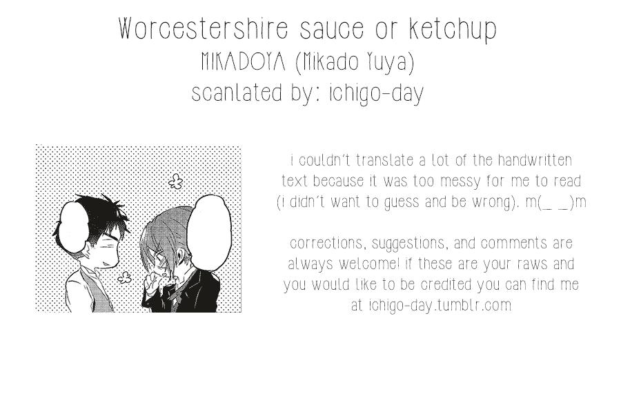 Worcestershire sauce or ketchup 19