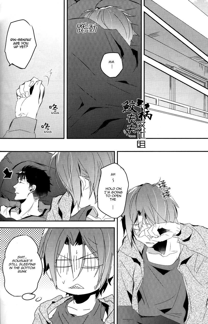 (Renai Jaws 4) [MIKADOYA (Mikado Yuya)] Matsuoka Rin, 18-sai | Rin Matsuoka, 18 year old (Free!) [English] [Carrot-Bunny]| 32