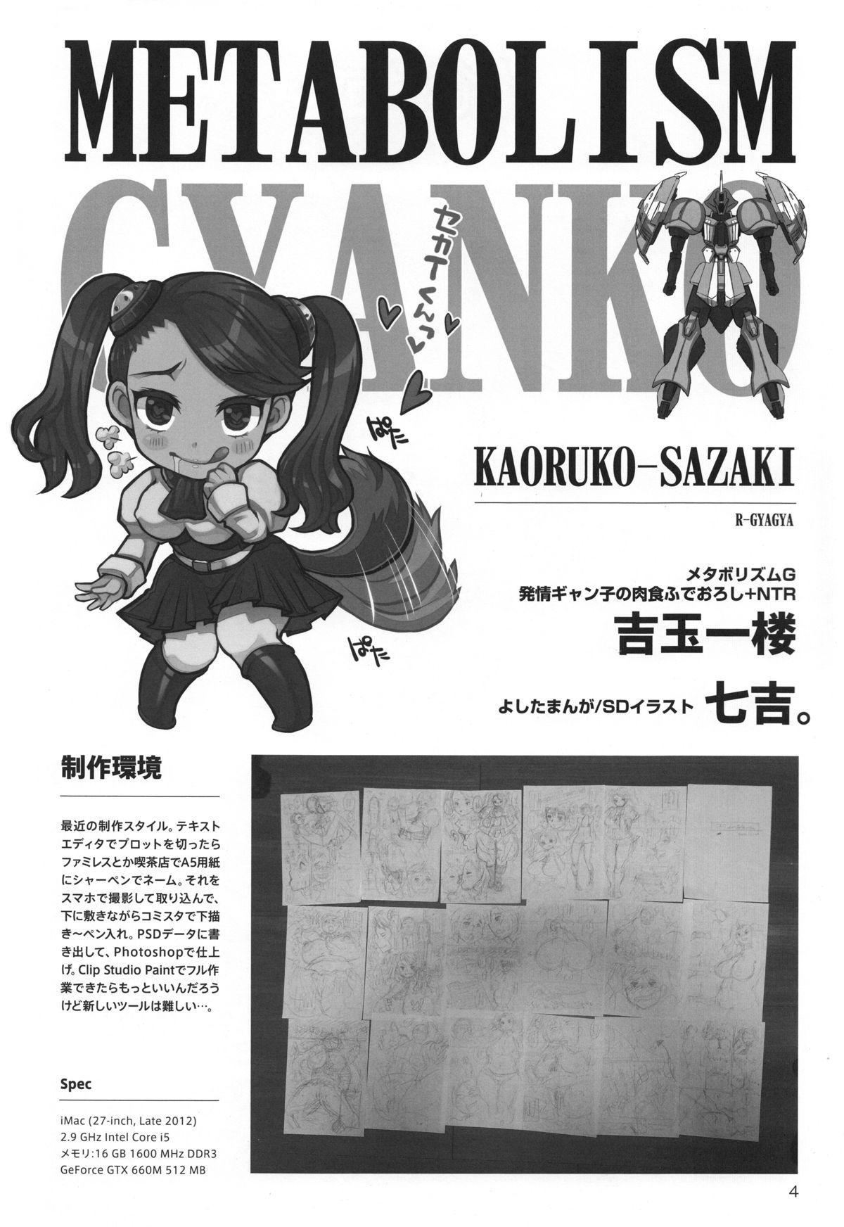 METABOLISM G Hatsujou Gyanko no Nikushoku Fudeoroshi + NTR 2