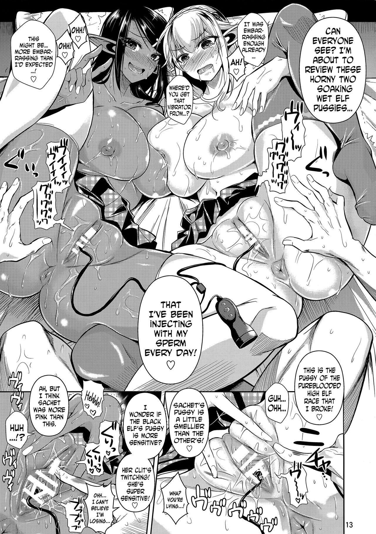 High Elf × High School Shiro × Kuro 13