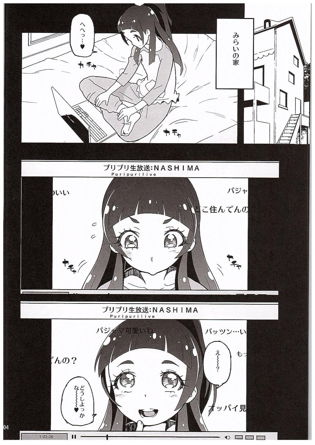 Amanogawa Kirara Riko to Mirai to Ero Nama Haishin Shoubu Anal demo Nan demo Misetekureru Choroi Namanushi ga PreCure datta Ken. 2