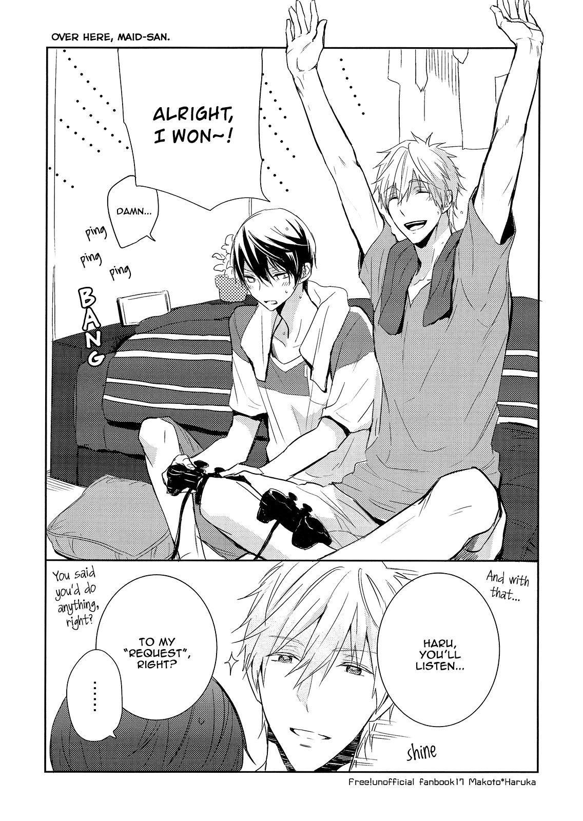 (Renai Endorphin 3) [Sneeeze (Kubu)] Kocchi Muite Maid-san   Over Here, Maid-san (Free!) [English] [mgqr scans] 1