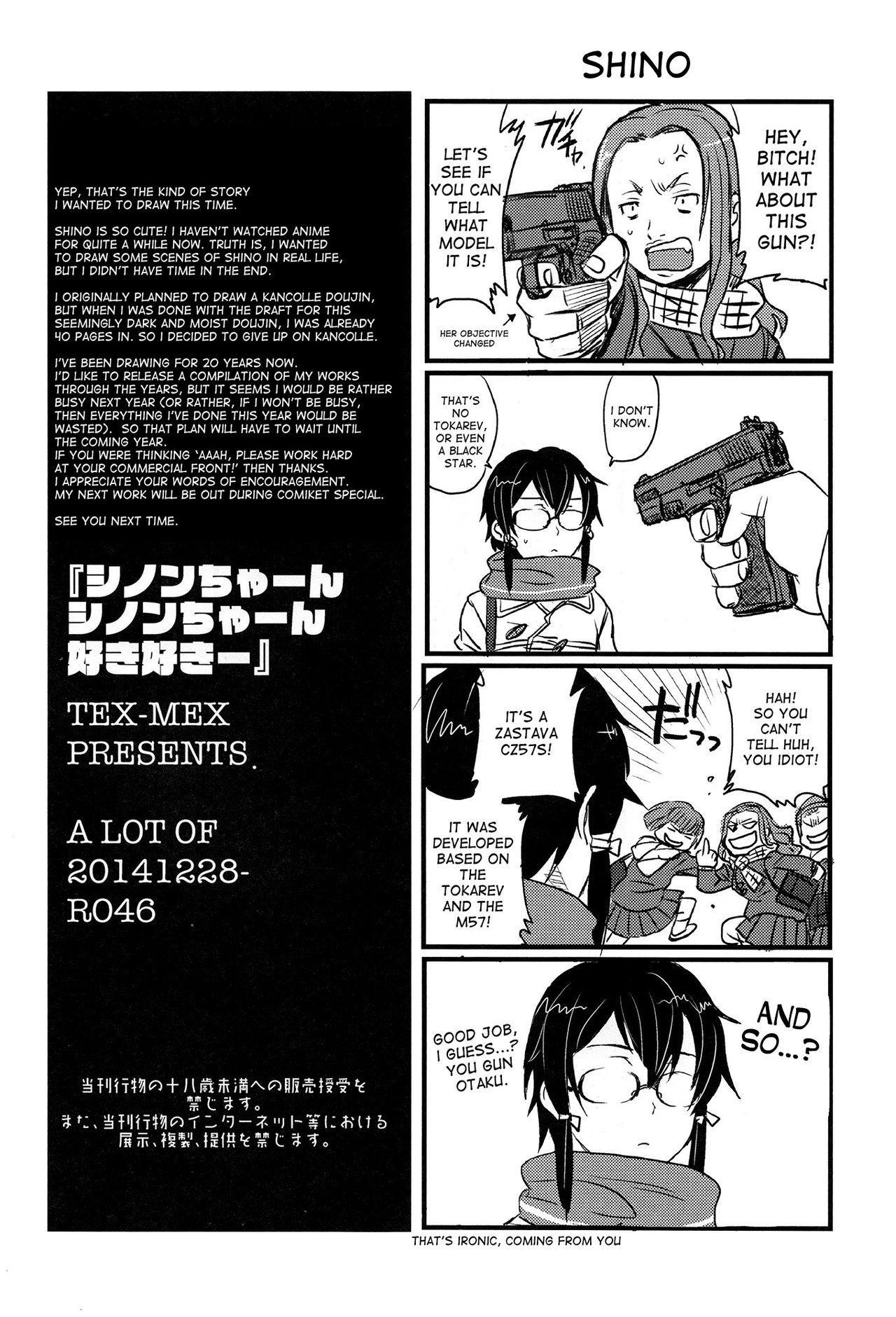 (C87) [TEX-MEX (Red Bear)] SSS Sinon-chan Sinon-chan Sukisuki (Sword Art Online) [English] [desudesu] 24
