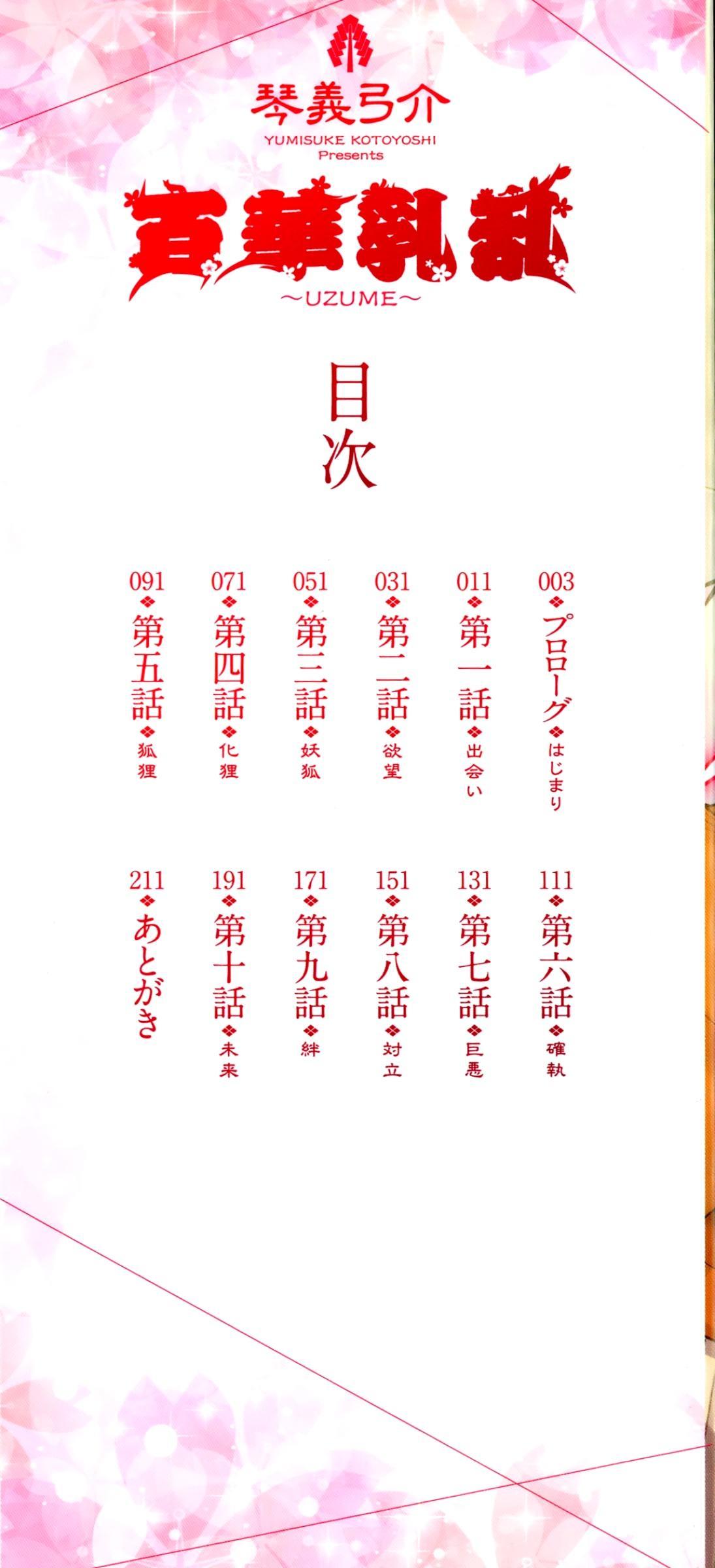 [Kotoyoshi Yumisuke] Hyakka Nyuuran ~UZUME~   Hundred Blossoms Raging Boobs ~UZUME~ Ch.0-3 [English] 3