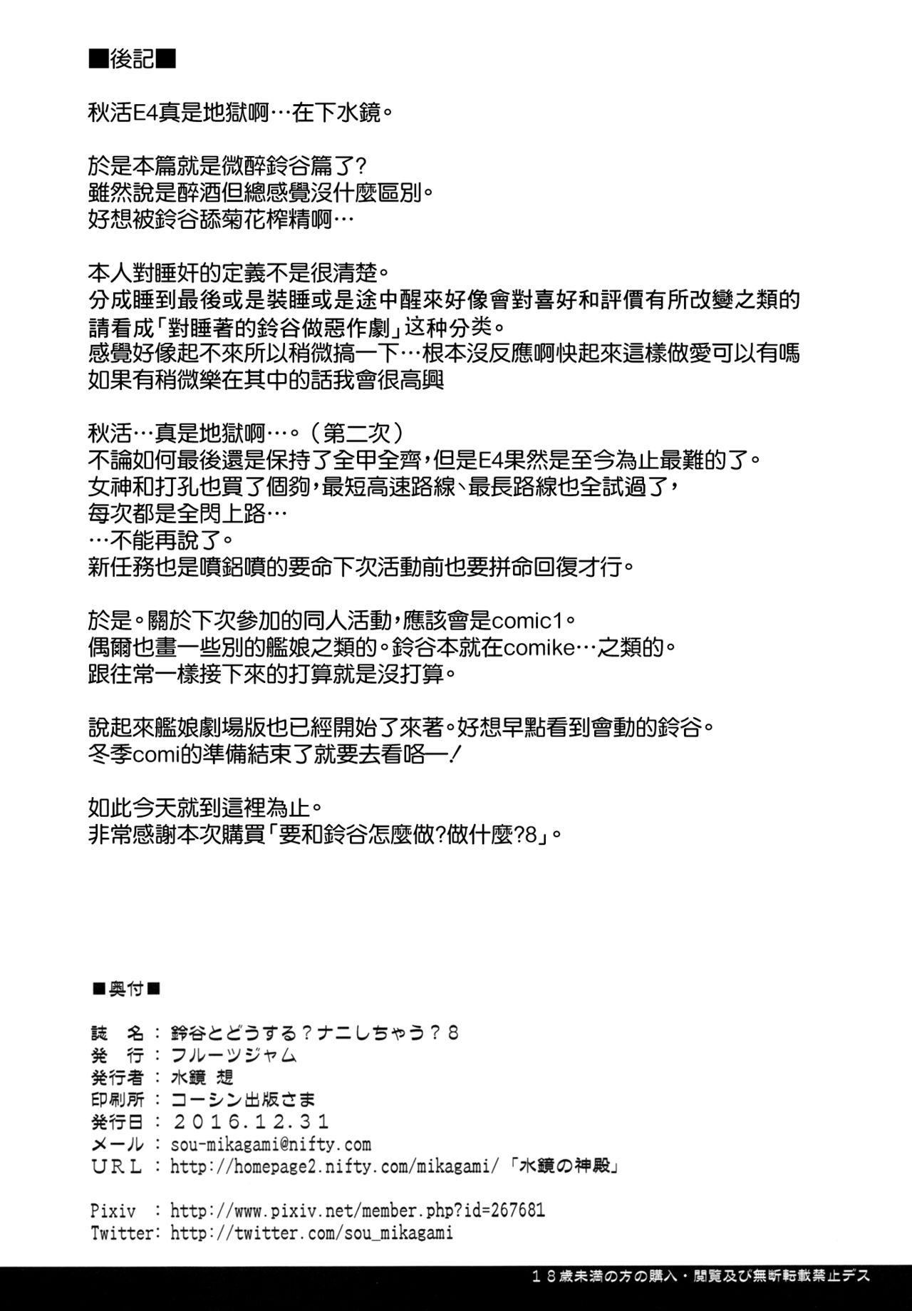 Suzuya to Dousuru? Nanishichau? 8 25