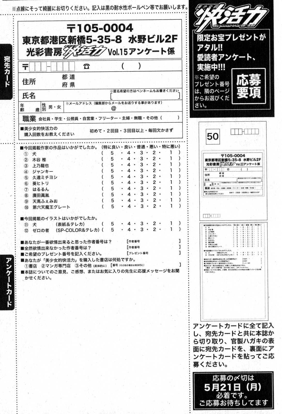 Bishoujo Teki Kaikatsu Ryoku 2007 Vol.15 196