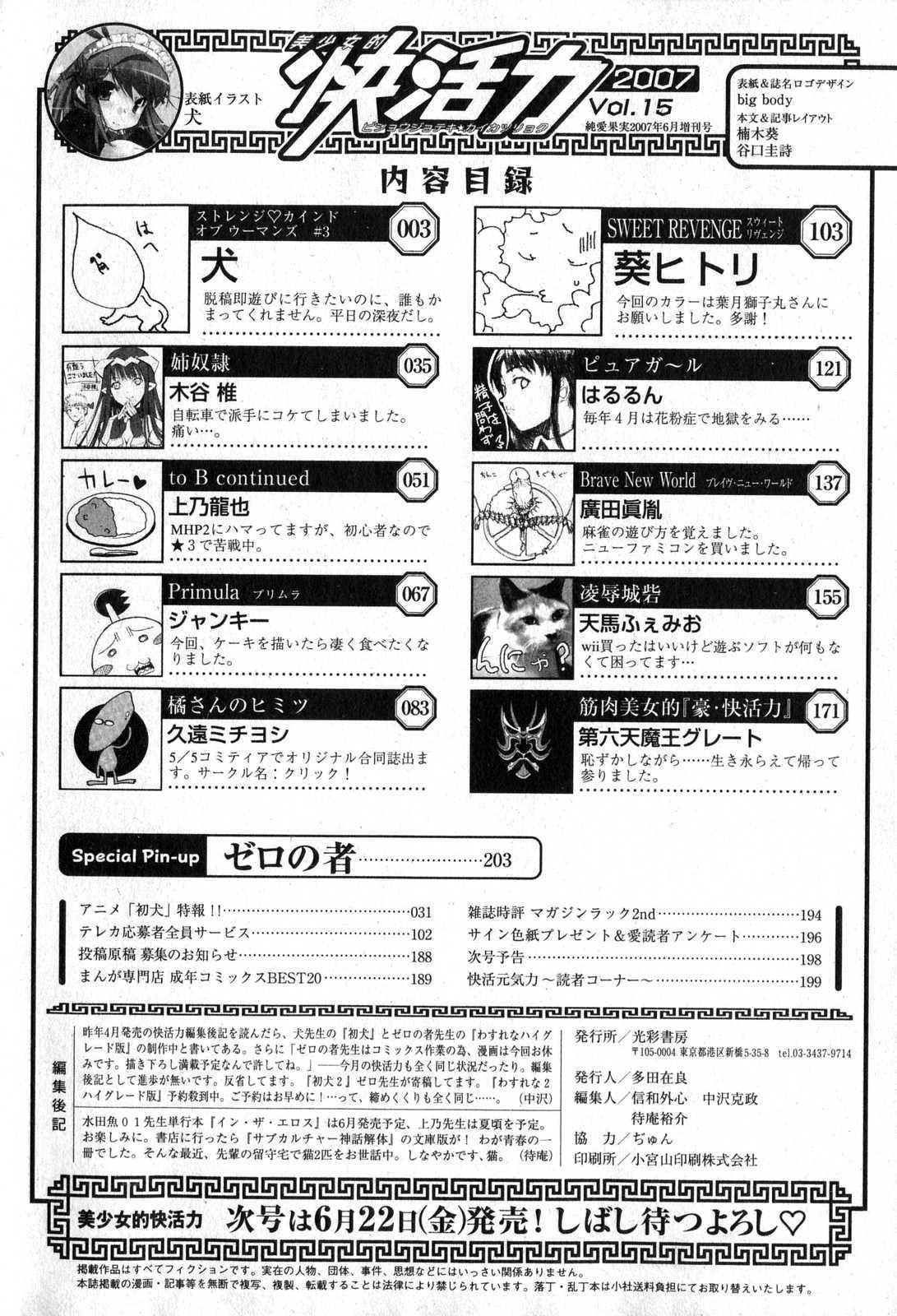 Bishoujo Teki Kaikatsu Ryoku 2007 Vol.15 201