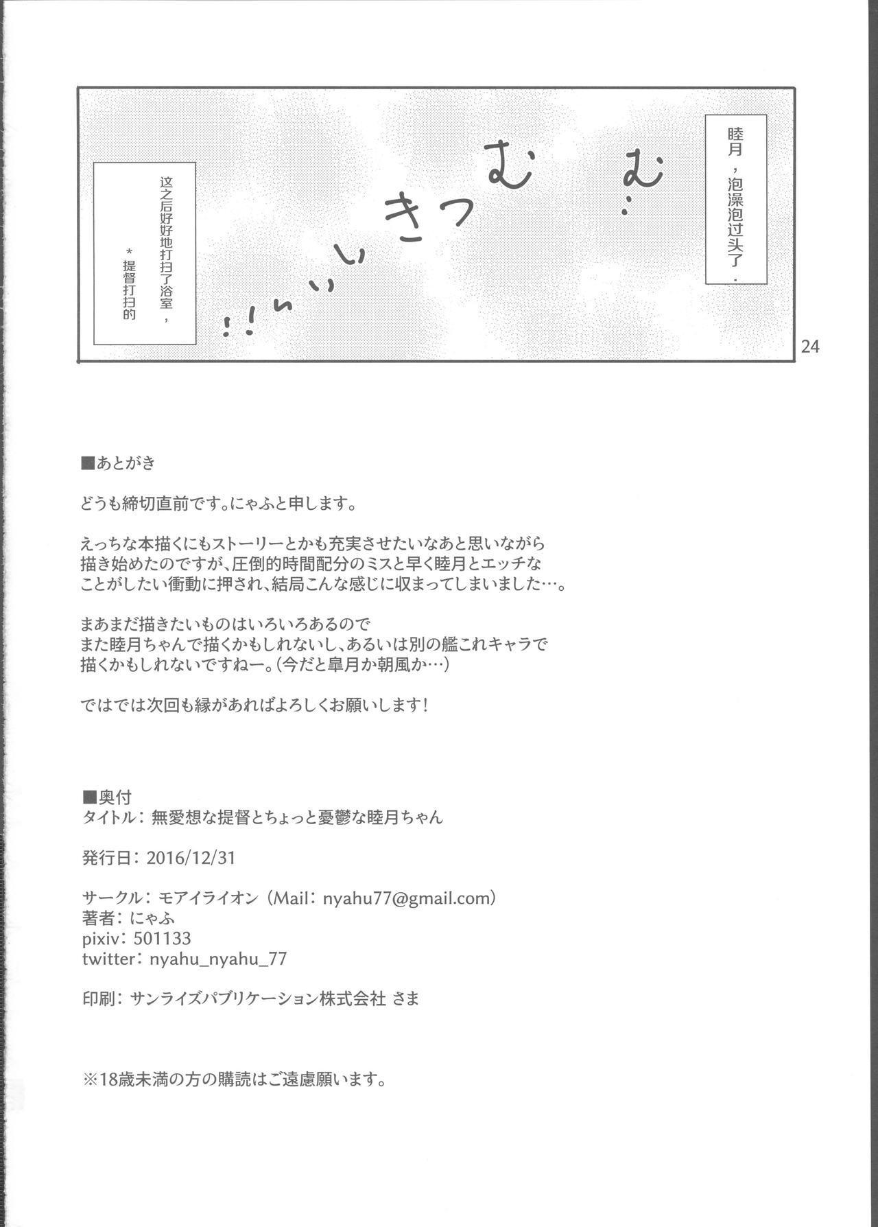 Buaisou na Teitoku to Chotto Yuuutsu na Mutsuki-chan 24