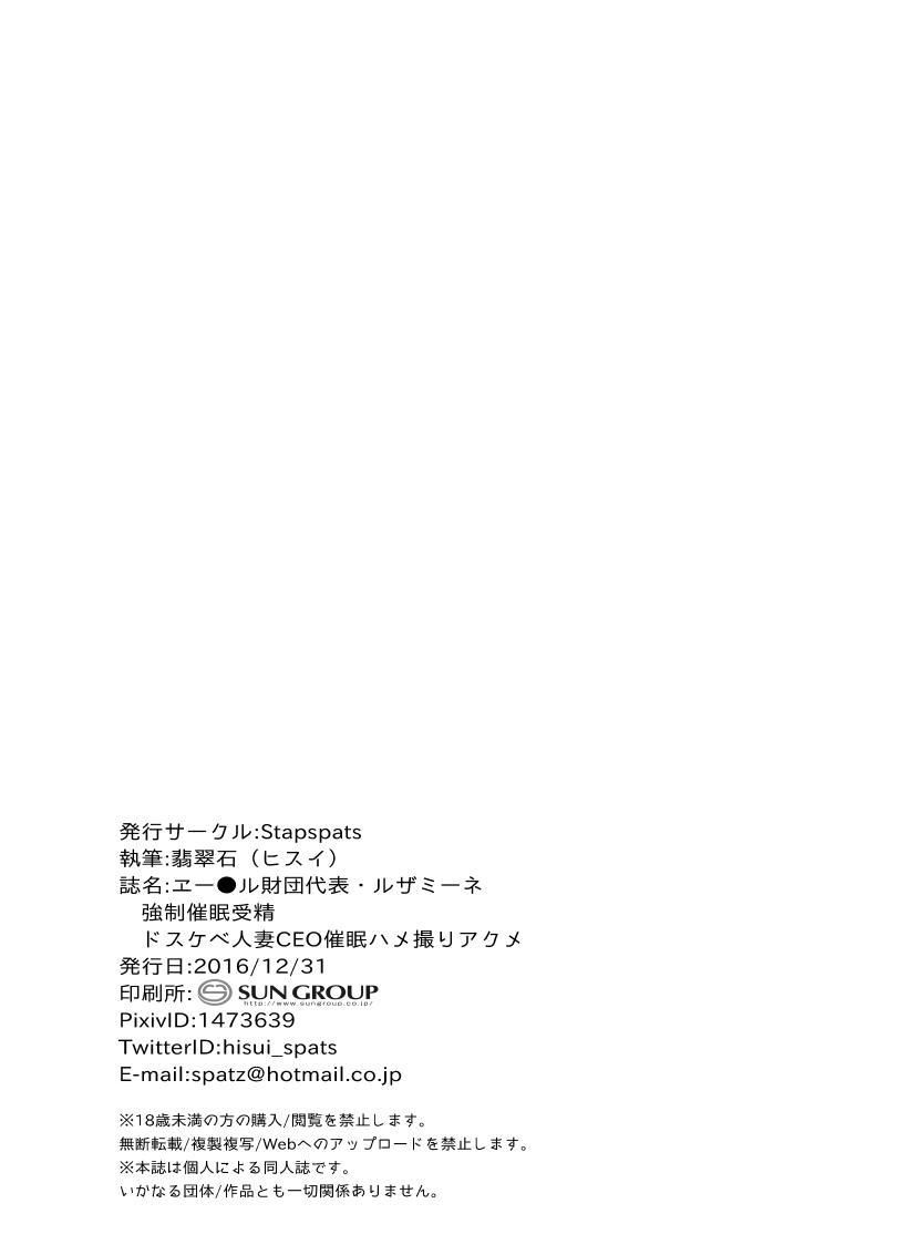 Aether Zaidan Daihyou Lusamine Kyousei Saimin Jusei 20
