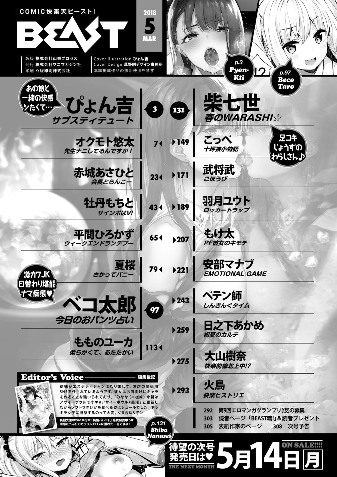 COMIC Kairakuten BEAST 2018-05 2