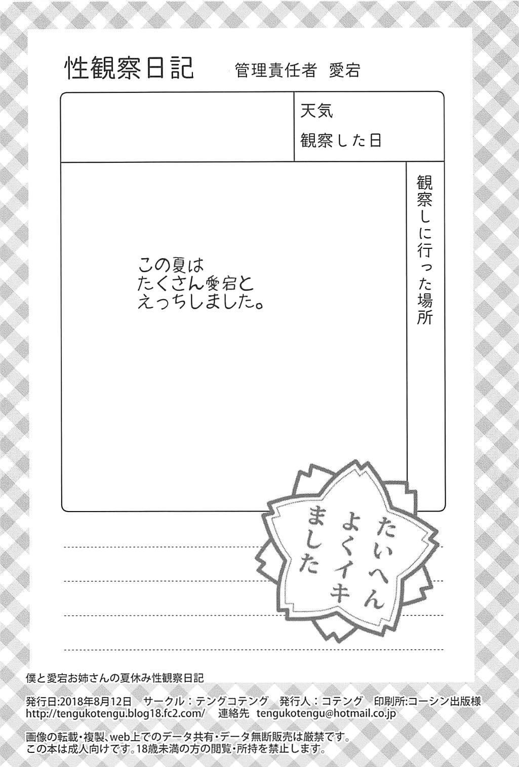 Boku to Atago Onee-san no Natsuyasumi Sei Kansatsu Nikki 16