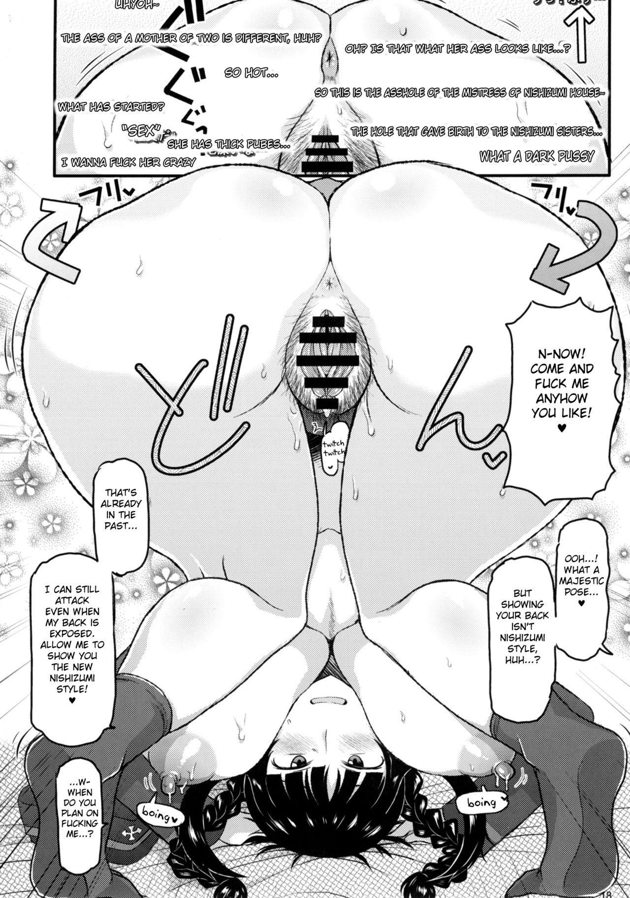 Girl?s & Semen III Nishizumi Shiho no Moteamashita Ureure Body o Chuunen Chinpo de Soutou Sakusen! Iemoto Ransou ni Idenshi Seichuu Butai Shinkou Kaishi 18