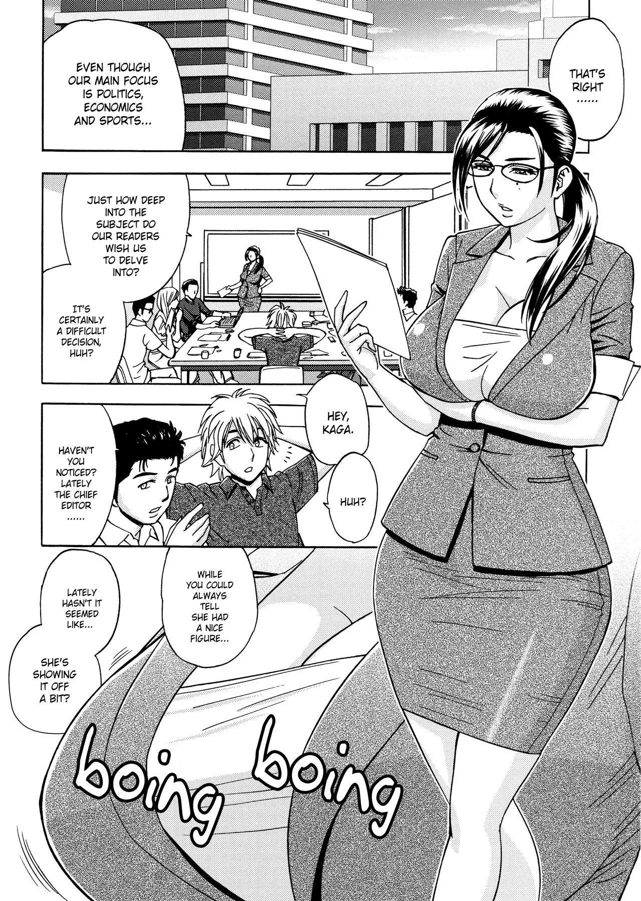 [Tatsunami Youtoku, Yamazaki Masato] Bijin Henshuu-chou no Himitsu | Beautiful Editor-in-Chief's Secret Ch. 1-4 [English] [Forbiddenfetish77, Red Vodka] [Decensored] 25