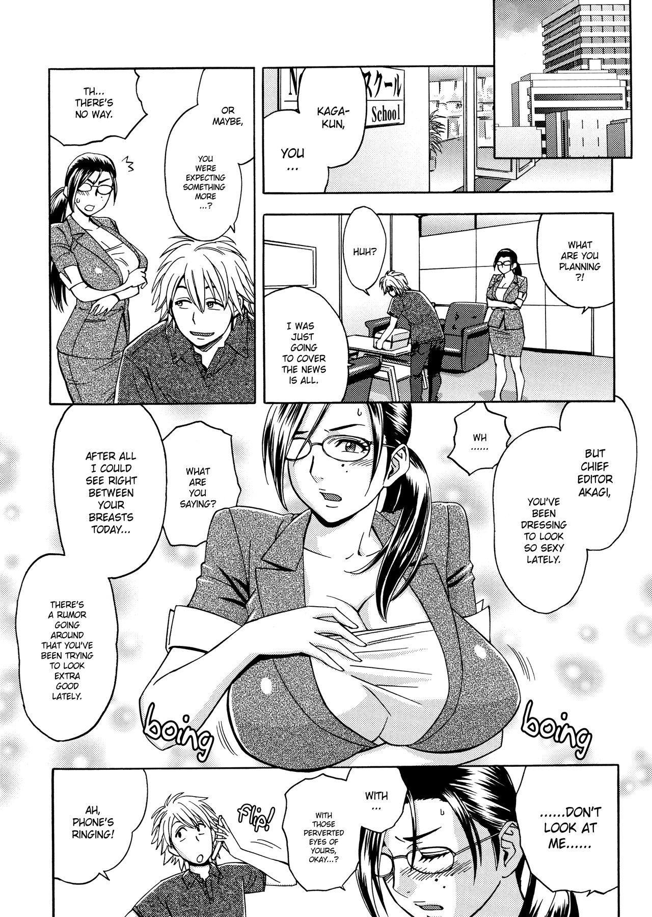 [Tatsunami Youtoku, Yamazaki Masato] Bijin Henshuu-chou no Himitsu | Beautiful Editor-in-Chief's Secret Ch. 1-4 [English] [Forbiddenfetish77, Red Vodka] [Decensored] 28