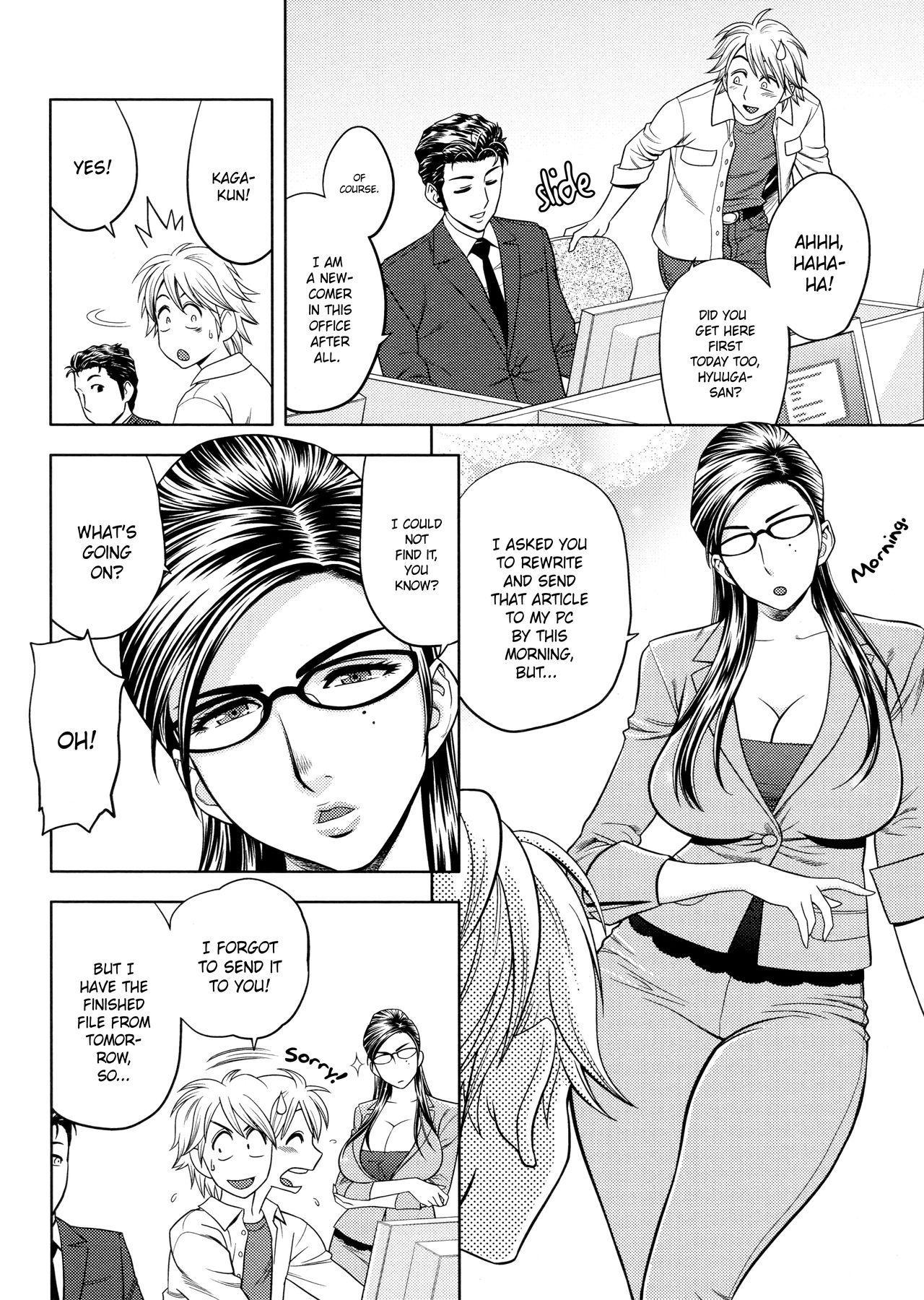 [Tatsunami Youtoku, Yamazaki Masato] Bijin Henshuu-chou no Himitsu | Beautiful Editor-in-Chief's Secret Ch. 1-4 [English] [Forbiddenfetish77, Red Vodka] [Decensored] 69