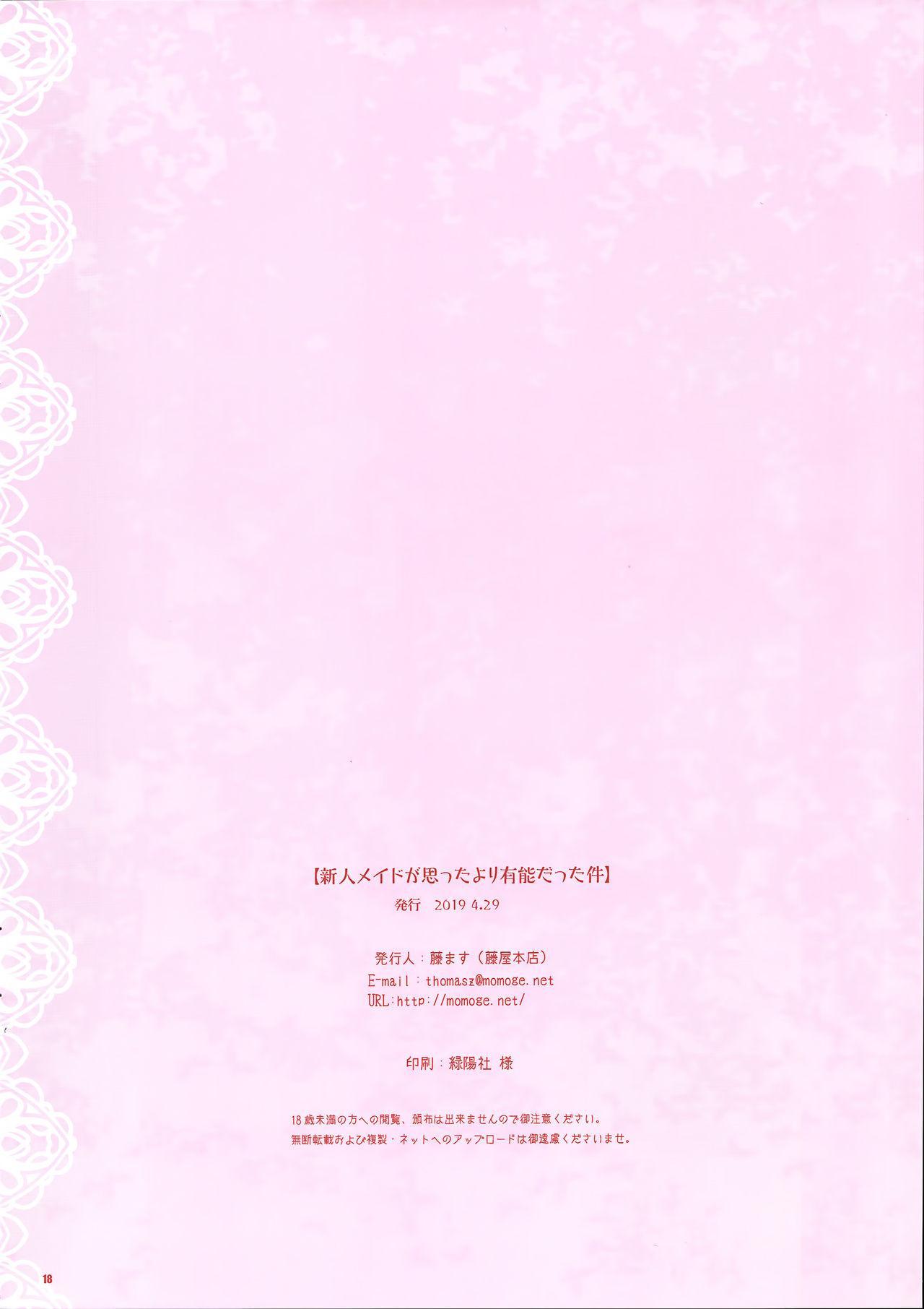 Shinjin Maid ga Omotta yori Yuunou datta Ken 16