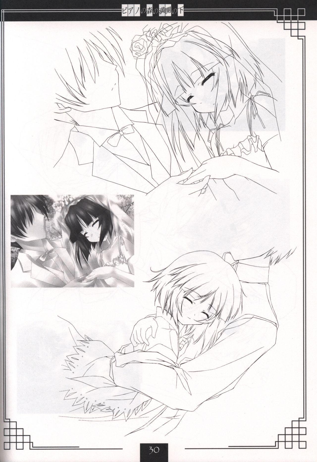 Piano no Mori no Mankai no Shita illustration art book 28