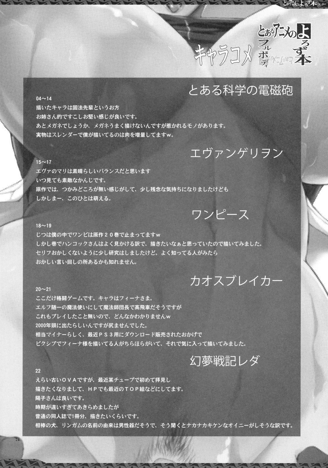 Toaru Anime no Yorozubon Full Body 22