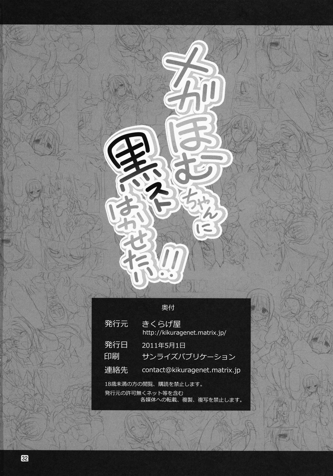 Megahomu-chan ni Kurosto Hakasetai!! 32