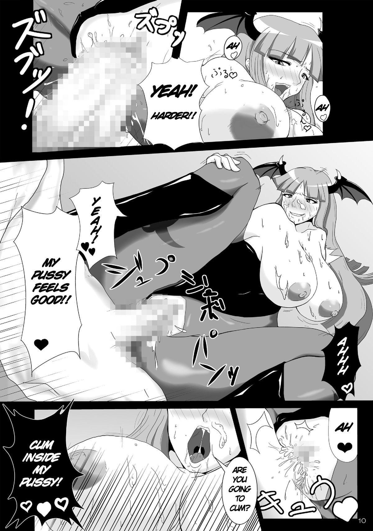 Saigo no Itteki made Shiborasete Morrigan no Sukebe Sugiru Jittai | Milking It Until The Last Drop the Perverted Side of Morrigan 9